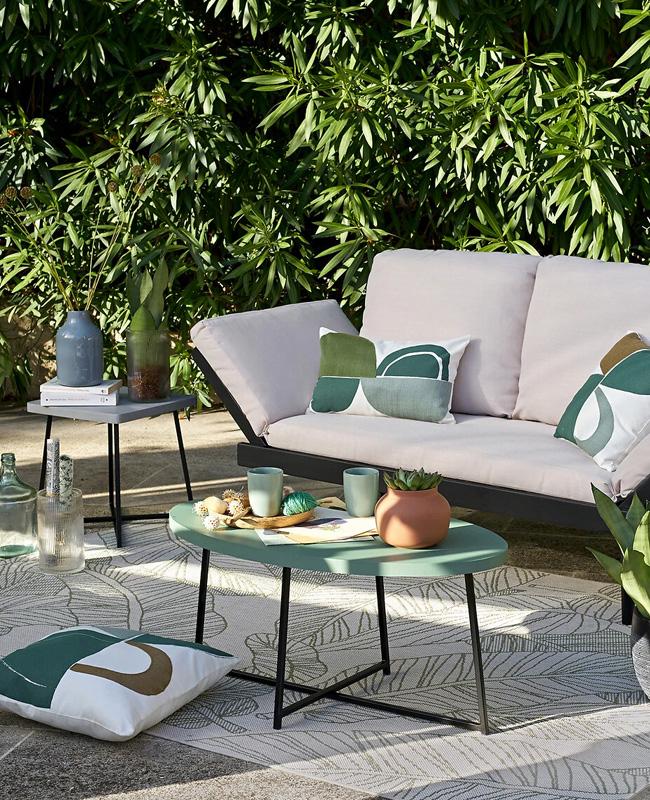 table basse jardin ovale
