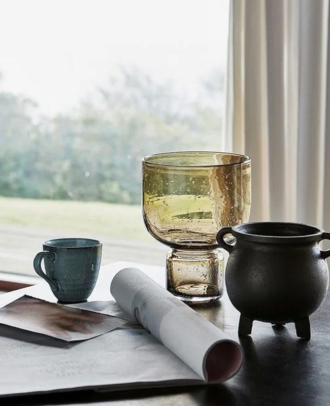 vase verre moderne bulle