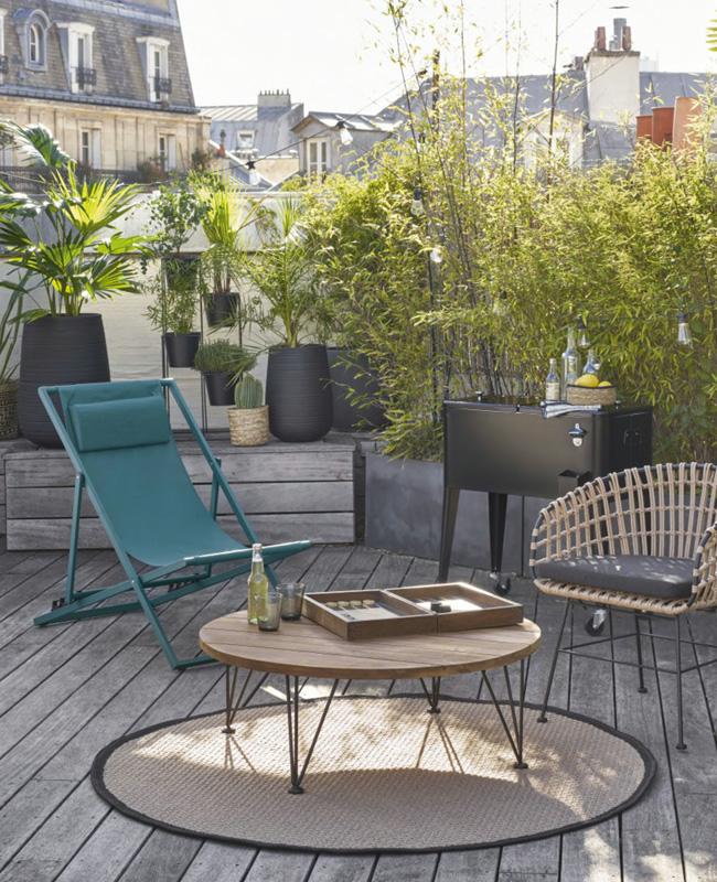 table basse jardin ronde