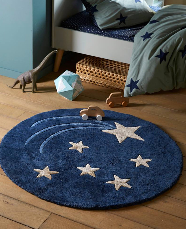 tapis rond enfant étoile