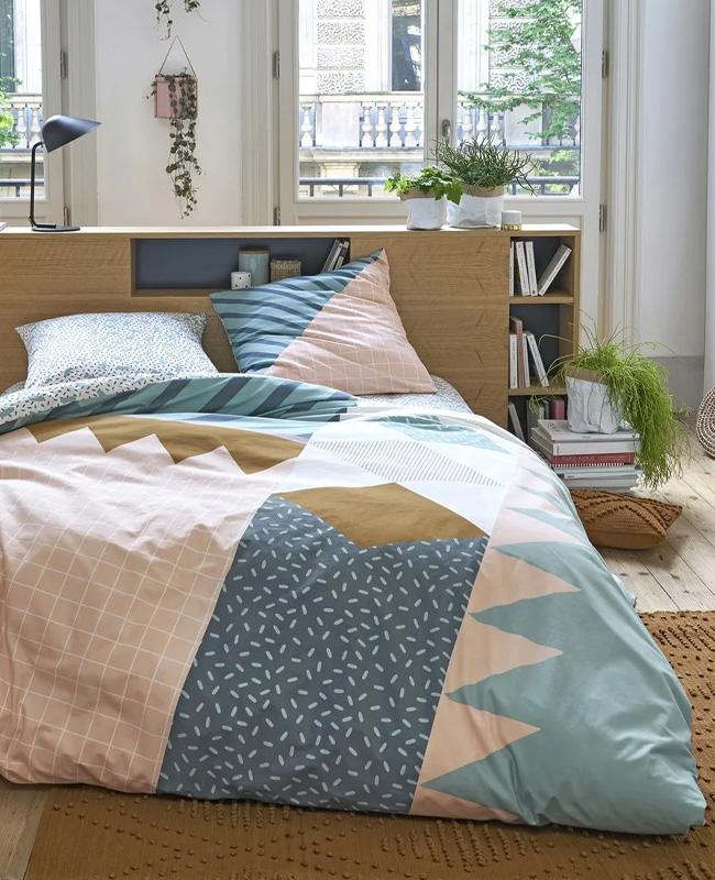 tete de lit rangement bois