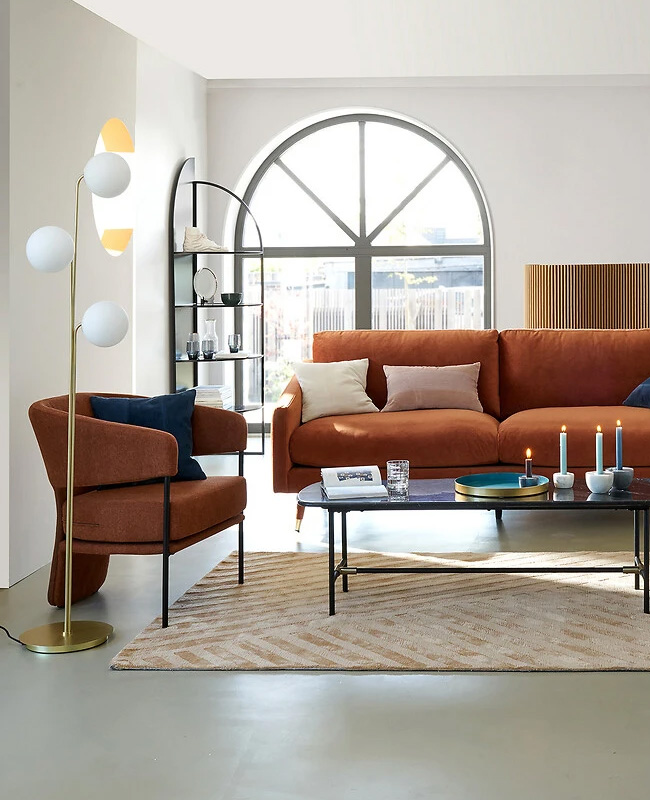 fauteuil terracotta