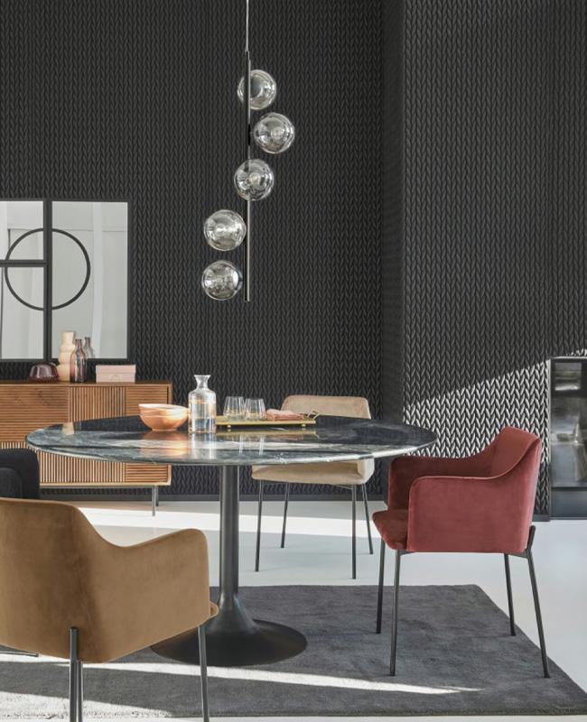 table ronde marbre noir