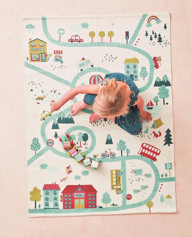 tapis jeu enfant ville