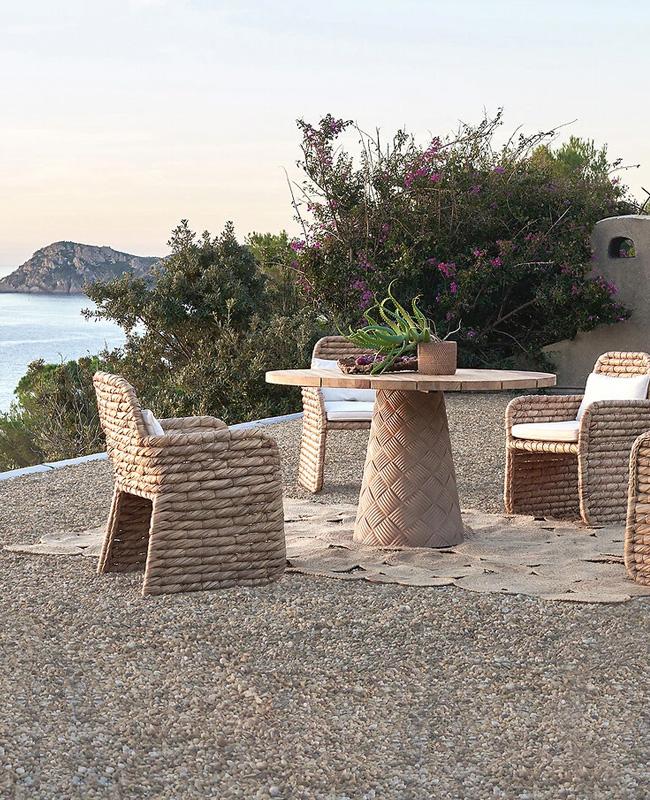 chaise jardin naturelle tresses
