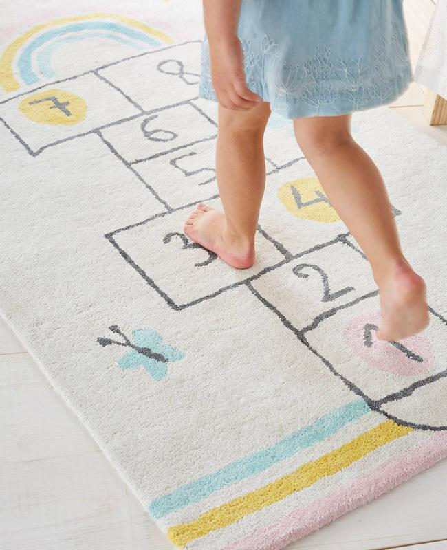 tapis jeu enfant marelle