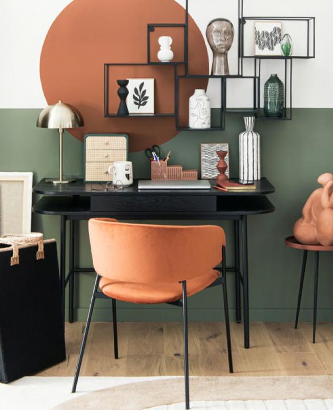 fauteuil terracotta moderne