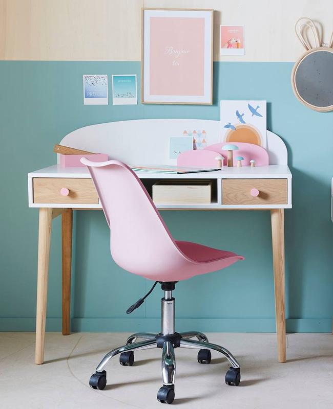 chaise bureau enfant rose