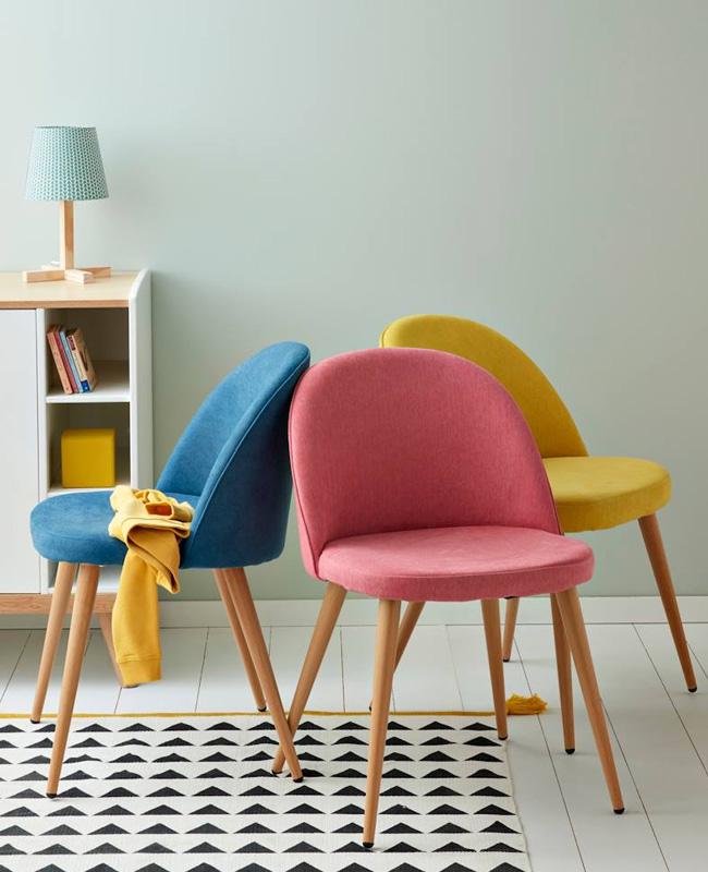 chaise bureau enfant scandinave