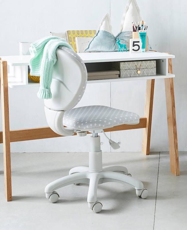 chaise bureau enfant gris