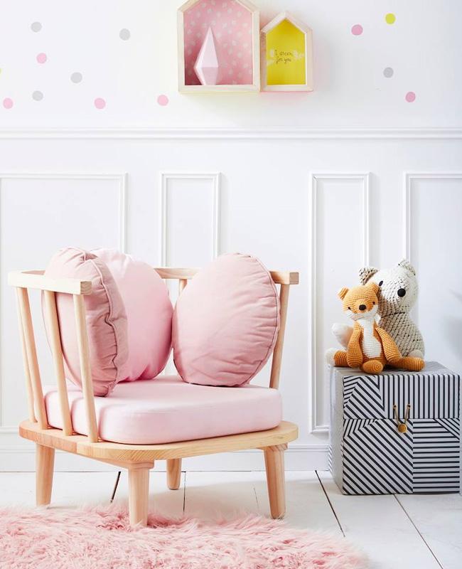 fauteuil bois rose