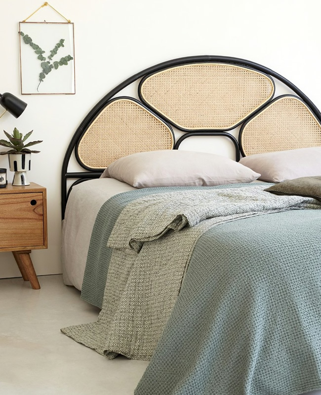 tete de lit cannage 3 panneaux