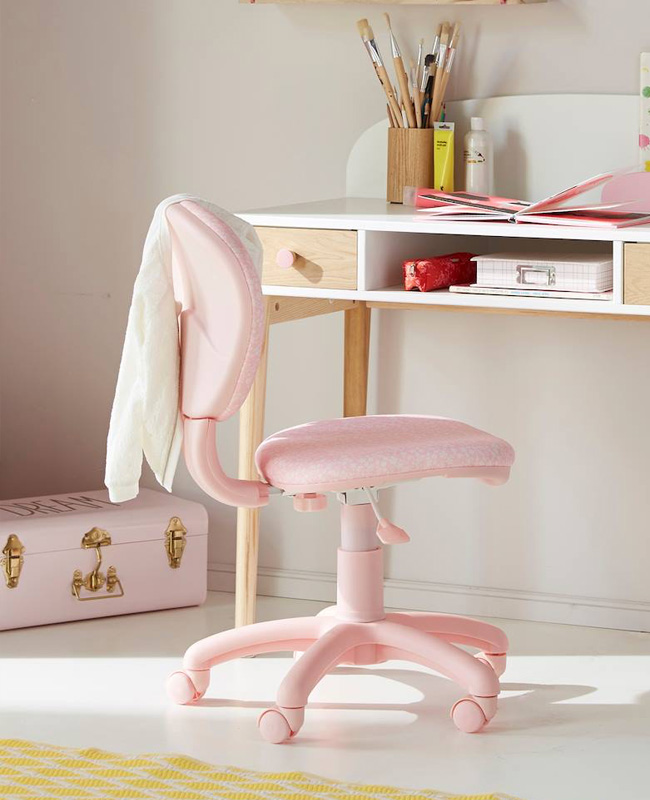 chaise bureau enfant rose fleur