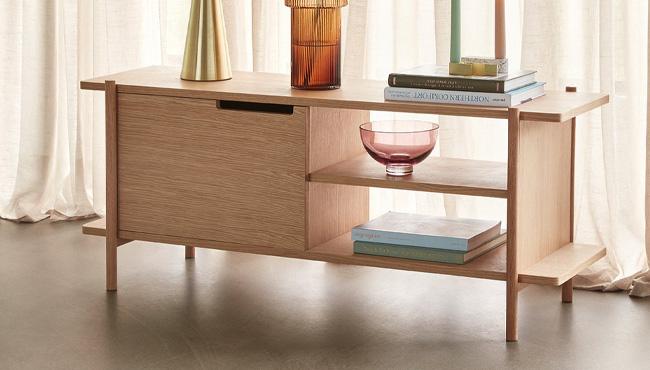 meuble bas bois moderne scandinave