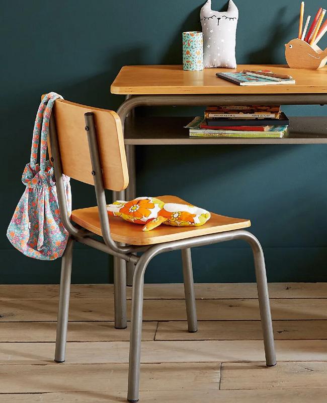 bureau chaise écolier enfant vintage