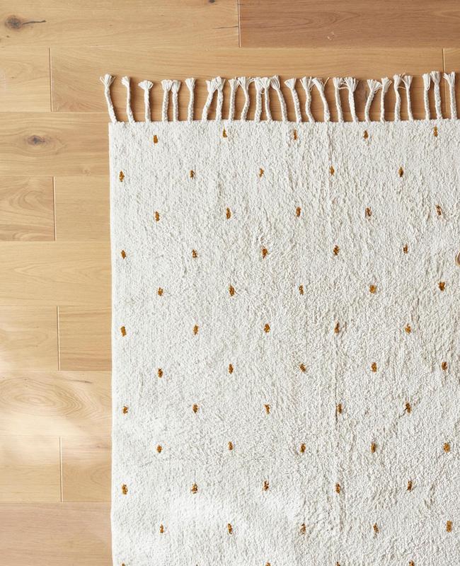 tapis coton pois