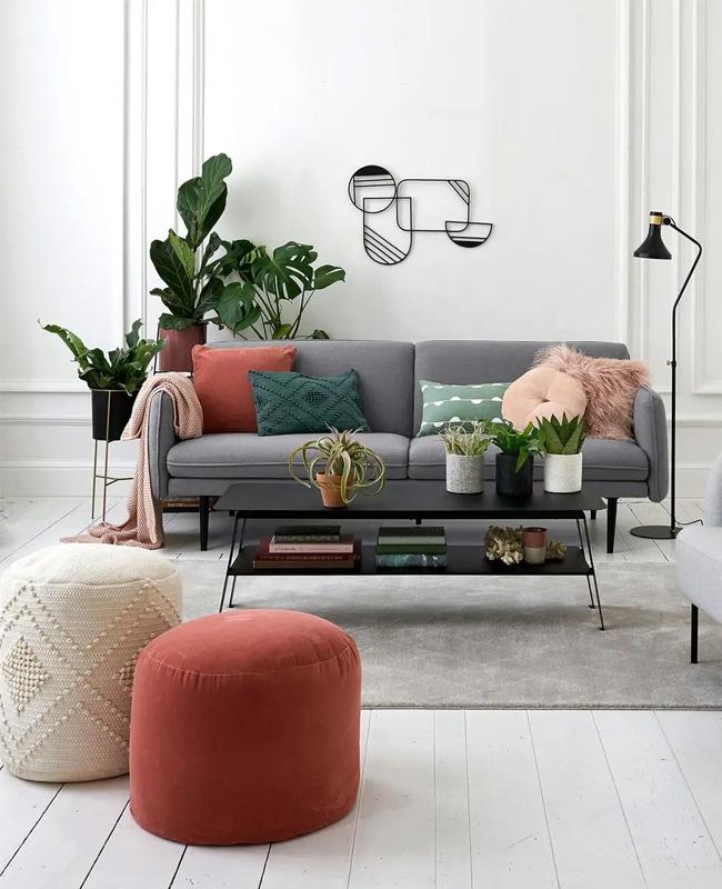 canape lit gris moderne