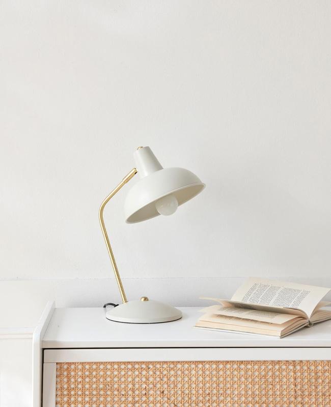 lampe retro ivoire