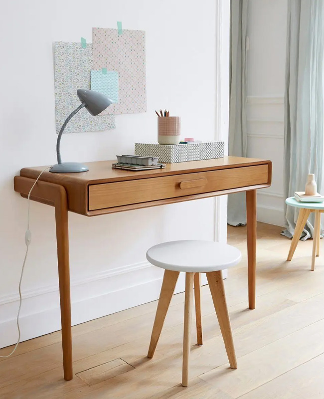 bureau console vintage