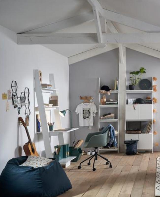 bureau etagere blanc