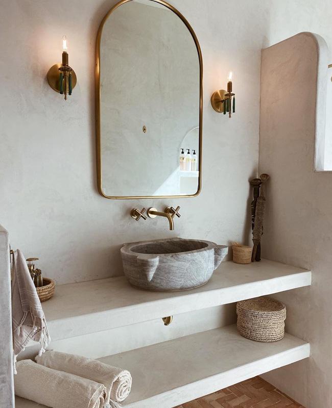 beton cire salle de bain naturelle