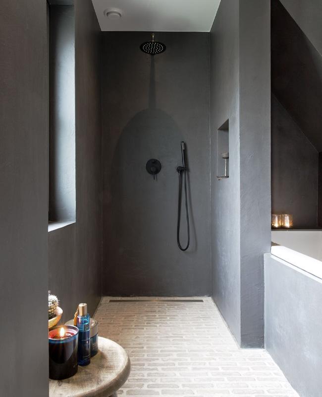beton cire salle de bain moderne